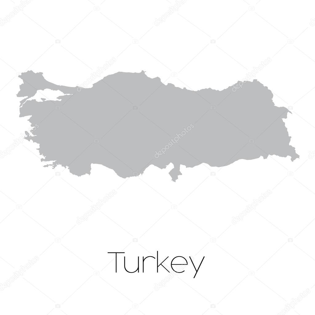 土耳其国家的地图 — 图库矢量图像08 paulstringer