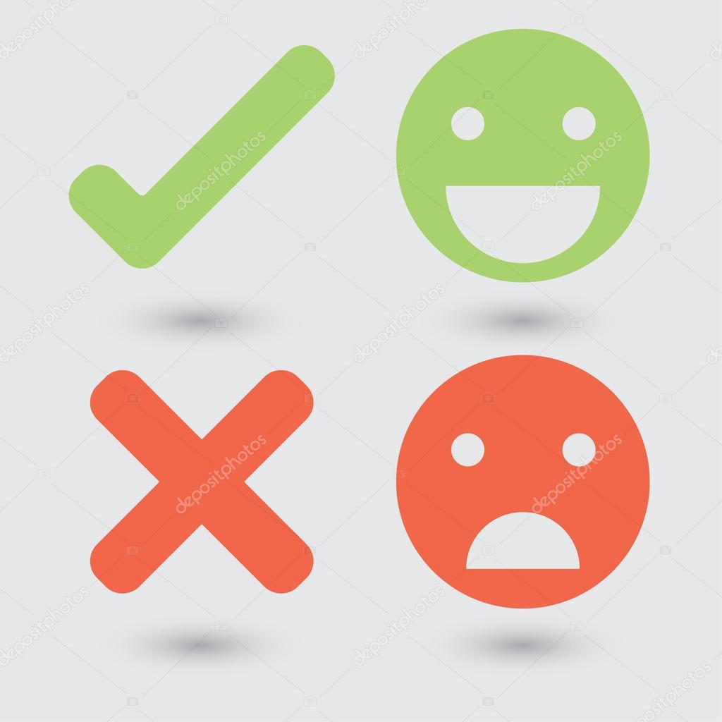 良い悪いシンボル– ストックイラスト