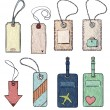 Set of various tags. vector illustration — Stock Vector #62788935