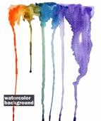 Watercolor abstract background. Rainbow. Hand painted — Stock vektor