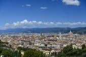 Florence Panorama: Santa Maria del Fiore - Florence, Italy — Stock Photo