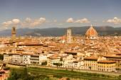 Florence Panorama: Santa Maria del Fiore - Florence, Italy — Stock Photo