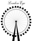 London eye siluett — Stockvektor