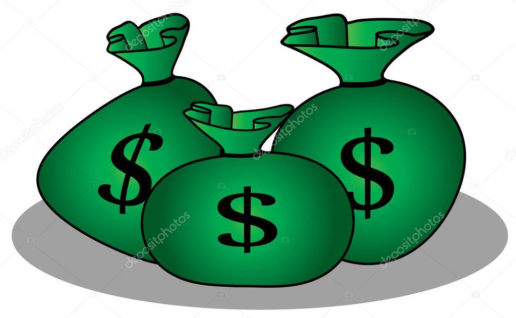 bolsa de dinero de dibujos animados vector de stock empty money bag vector holding money bag vector