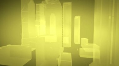Volume projection of the city — Stock Video