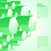 Creative green vector illustration.  — Stock Vector