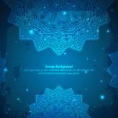 Abstract Aztec blue ornament.  — Stock Vector