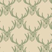 Seamless deer pattern  — Stock Vector