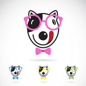 Vector image of a dog glasses on white background. — Stock Vector