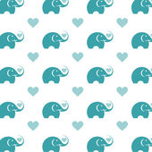 Seamless wallpaper elephant. Vector illustration — Stock Vector