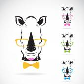 Vector image of a rhino glasses on white background. — Wektor stockowy