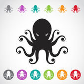 Vector image of an octopus on white background. — Stock Vector