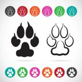 Vector image of paw print on white background — Stock Vector