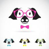 Vector image of a pig glasses on white background.  — Stock Vector