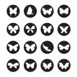 Vector group of butterflies in the circle — Stock Vector #62646107
