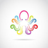 Vector image of an octopus design on white background. — Stock Vector