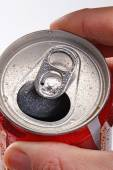Opening soda cola can — Stock Photo