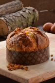 Panettone bread and ingredients — 图库照片