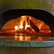 Pizza oven with fire — Stock Photo #65003295