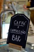 Caffe and cappuccino black board — Stock Photo
