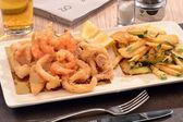 Fried sea salad dish — Stock Photo
