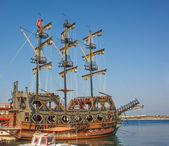 Nave pirata stilizzato — Foto Stock