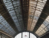 Patterns at the roof of railway station — Stock Photo