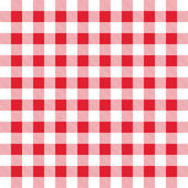 Red and white gingham background — Stock Vector