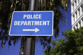 Police Department sign — Stock Photo