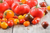 Colorful tomatoes. — Stock Photo