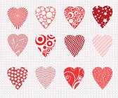 Vector hearts set  — Stock Vector