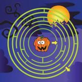 Halloween Maze  — Stock Vector