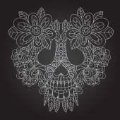 Dead  Skull — Vetor de Stock