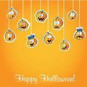 Halloween dýně - pohlednice — Stock vektor