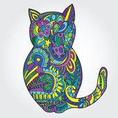 Иллюстрация кошки — Cтоковый вектор