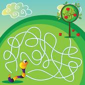 Vector Maze for Children — Stock Vector
