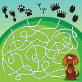 かわいい犬のゲーム — ストックベクタ