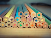Set of pencils.Photo close up Background — Stockfoto
