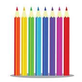 Set of Coloured pencils -  Illustration on white background — 图库矢量图片