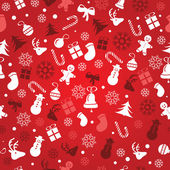Christmas background, seamless tiling, great choice for wrapping paper pattern — Stock Vector