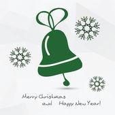 Christmas vector illustration - bell — Vector de stock