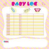 Baby log — Stock Vector