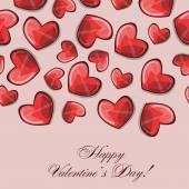 Composición de los corazones de San Valentín. Vector de — Vector de stock