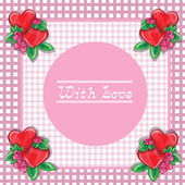 Frame with hearts - vector image — Stock Vector
