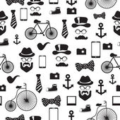 Seamless vector pattern in hipster style — Stock Vector
