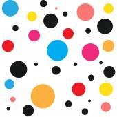 Seamless retro polka dot pattern in candy colors — Stock Vector
