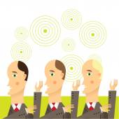 Businessmen in conversation, Group of businessmen — Stock Vector