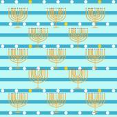 Pattern with Hanukkah symbols. colorful vector illustration — Stock Vector