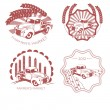 Set of old fashion farming labels, badges and design elements — Stock Vector #60095425