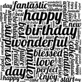 Happy Birthday typography seamless background pattern in vector — Stock Vector